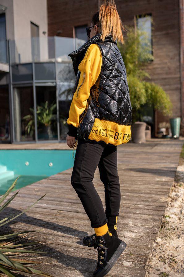 kamizelka 1448 czarny+żółty (1)