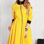 sukienka 1502 żółty (1)