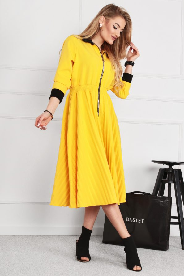sukienka 1502 żółty (2)