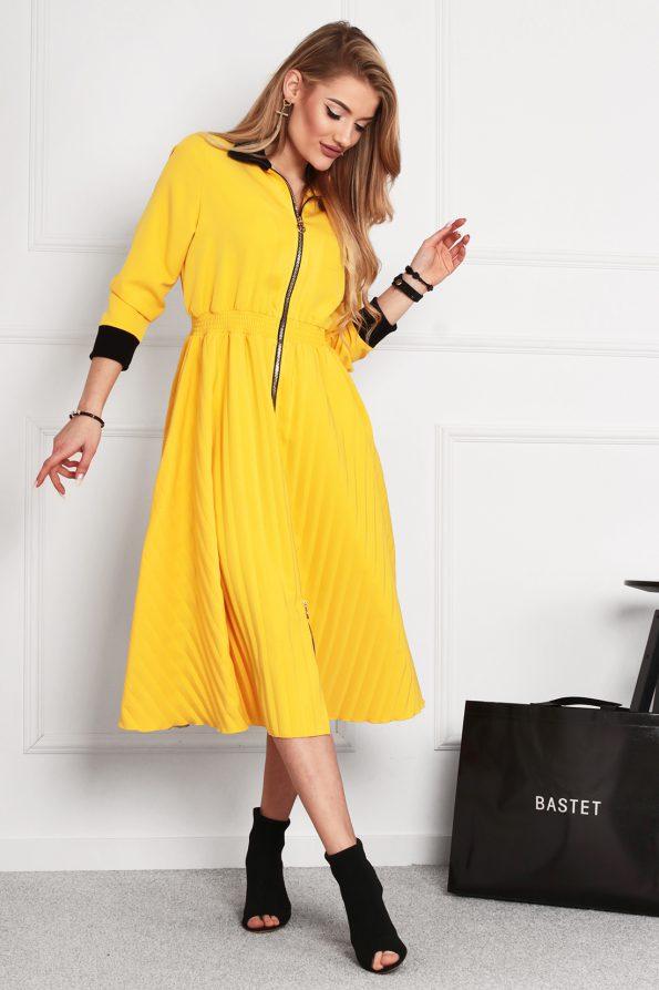 sukienka 1502 żółty (3)