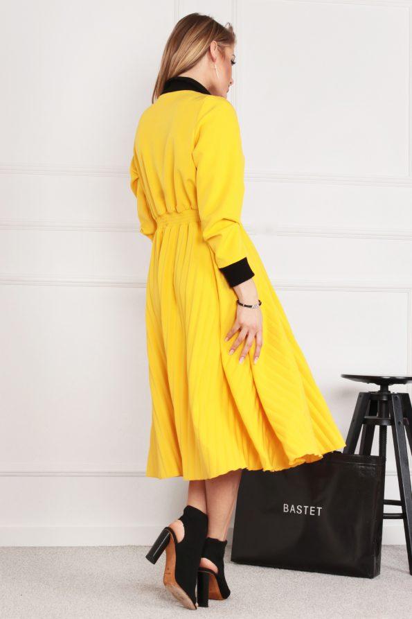 sukienka 1502 żółty (4)