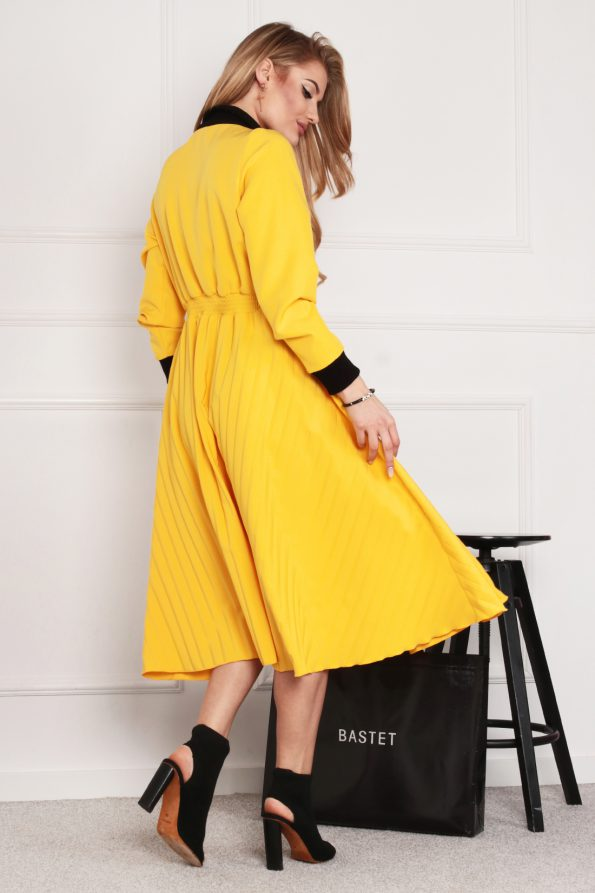 sukienka 1502 żółty (5)