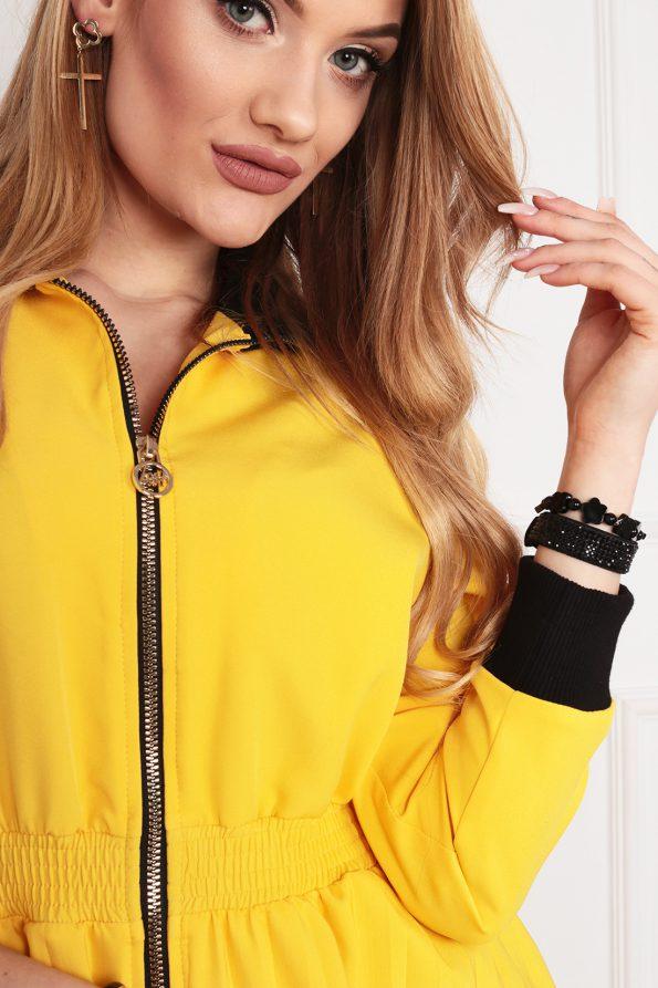 sukienka 1502 żółty (6)