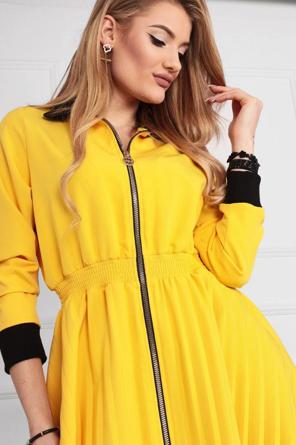 sukienka 1502 żółty (7)