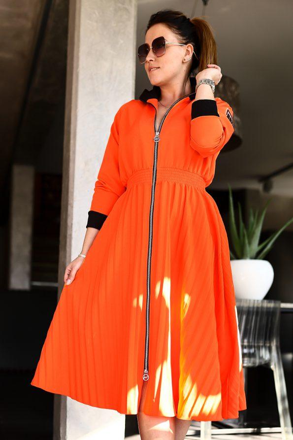 sukienka 1502 pomarańczowy (3)