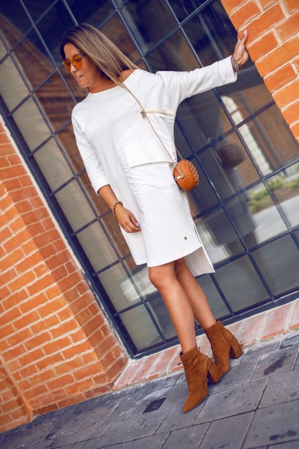 sukienka-kieszeń-ecru